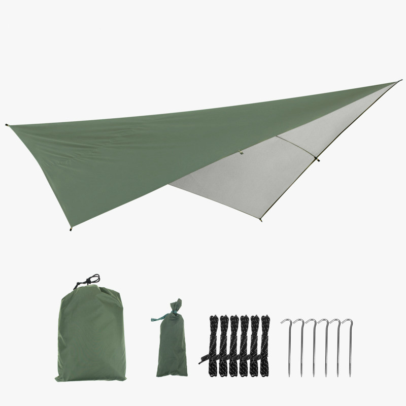 Waterproof Hammock Canopy Tent Beach Garden Sunshade 290*290cm Large Awning Hamak Outdoor 8 Hanging Point With Ropes