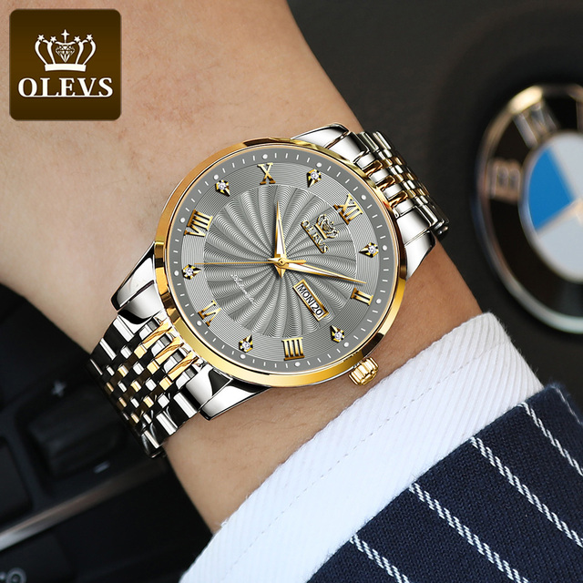 OLEVS Men Mechanical Watch Top Brand Luxury Automatic Watch Sport Stainless Steel Waterproof Watch Men relogio masculino 6530 5