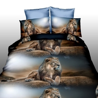 200*230cm 3pcs Soft Duvet Quilt Cover Pillowcase Bedding Set 3d Wolves Print Twin Queen Size For Quilt Pillow In Bedroom