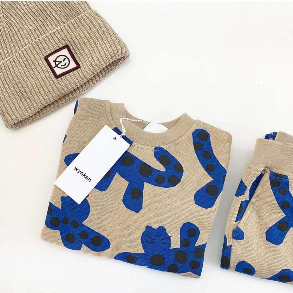 Kids Sweaters 2021 Wynken Brand New Autumn Winter Boys Girls Cartoon Face Print Sweatshirts Baby Children Outwear Clothes Tops 6