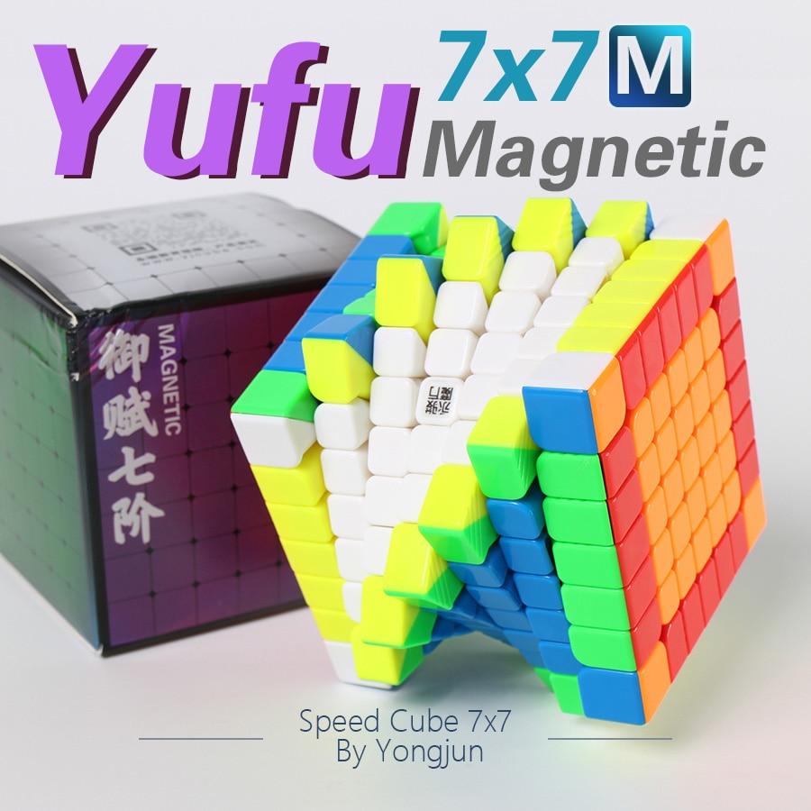 7x7x7 yongjun enigma cube cubo magnetico ima velocidade 7x7 yufu m brinquedo cubo magico para criancas