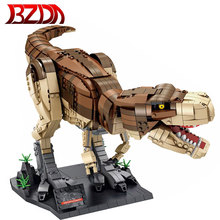 BZDA Jurassic Park T. rex Rampage Building Blocks Dinosaur World Tyrannosaurus Model Construction Bricks Boys Toys Birthday Gift