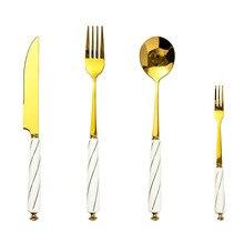 Stainless Steel Cutlery Creative Ceramic Handle Steak Knife Dinner Fork Spoon Set Fruit Fork Dinner Service Jogo De Jantar jantar для волос