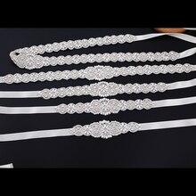 Rhinestone Sash Belts Accessoires Wedding-Dress Crystal Women for Mariage 270cm