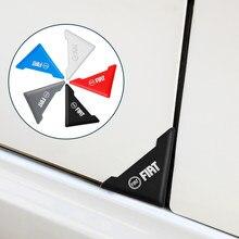 2 pçs silicone cuidado automático pára-choques acidente anti-risco porta do carro canto capa protetor de risco para fiat punto abarth 500 stilo ducato