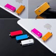 Usb de boa aparência do metal 3.0 com o mini pendrive 8g/16g/32gb 64gb u do flashdrive das cores múltiplas sobre o dedo livre do logotipo de 10 pces