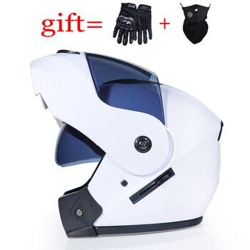 VIREVT 903, rcycle cascos de Moto, visores dobles modulares abatibles hacia arriba, casco de moto de carreras de cara completa con DOT aprobado, casco de Moto cross