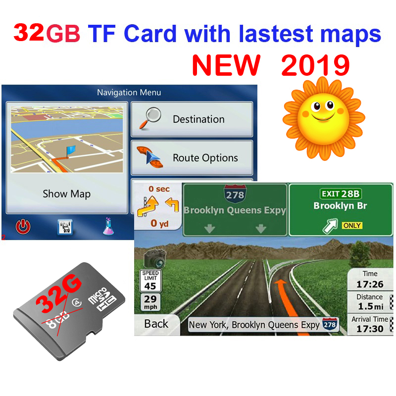 32g Gps Maps Tf Sd Card Latest Map For Wince Android Car Gps