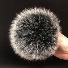 DIY Роскошный меховой помпон из натурального меха лисы, помпон, помпон ручной работы, действительно большой помпон для волос,, шапка с пряжкой