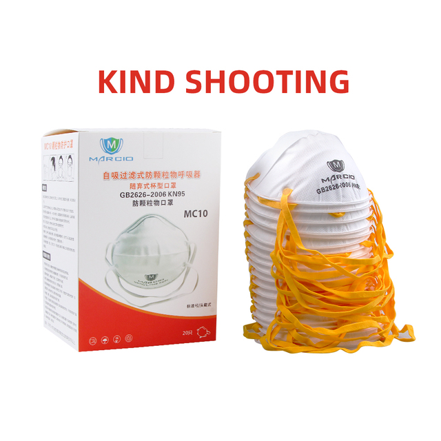 FDBRO 2020 KN95 Cup Mask Anti Flu Face Mask White PM2.5 Adjustable Strip Dust Outdoor Breathable Facial Nonwoven Masks Free Ship 5
