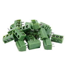 20 Pcs 3 Pin 5mm Pitch PCB Mount Screw Terminal Block AC 250V 8A 10 pcs kf301 3p screw 5 0mm terminal block 3 pin spliceable pcb terminal block connector