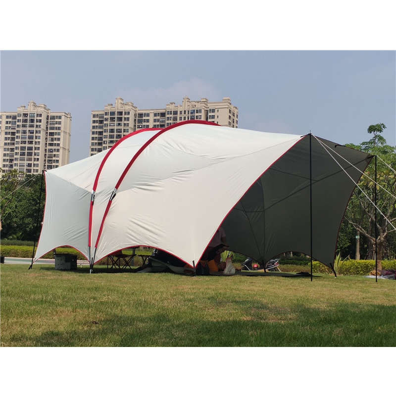UV 4 5 6 Person 6*4.5*2.5m Habe Fishing Sunshade Beach Awning Party Pergola Travel Car Tent Park Trekking Outdoor Camping Tent