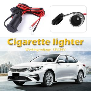 Hot Sale Cigarette Lighter Socket Solid Universal 12-24V Car Motorcycle Truck Cigarette Lighter Socket with Fuse+Cable