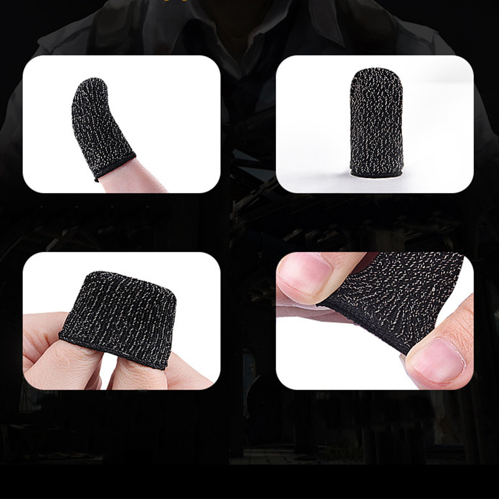 Image 4 - 1 Pair Mobile Game Finger Cots for PUBG Stall Sensitive Sweatproof Breathable Sleeve Gaming Accessories for iPhone iOS Android-in Cases from Consumer Electronics