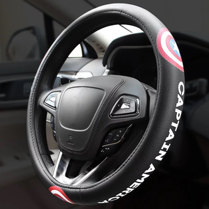 Image 3 - Koele Cartoon Auto Stuurwiel Covers Case Comfortabele Anti Slip Auto Stuurwiel Cover Auto Accessoires