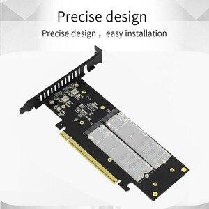 Image 4 - JEYI iهايبر m.2 X16 إلى 4X PCIE3.0 GEN3 X16 إلى 4 * بطاقة غارة PCI E VROC بطاقة غارة فرط M.2X16 M2X16 4X X4 رائد