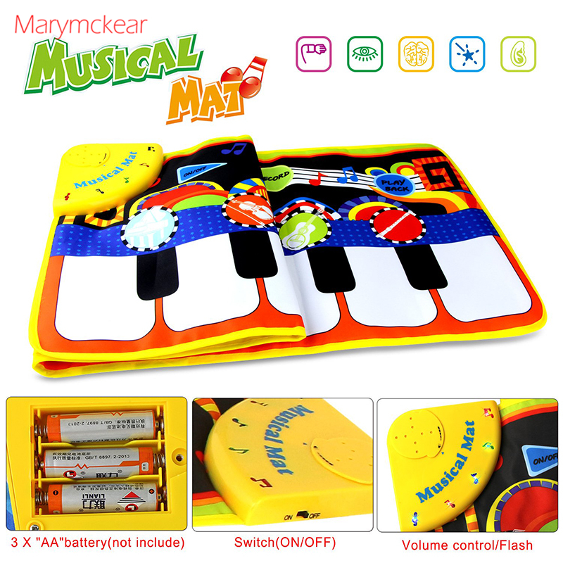 110x36CM Baby Electronic Music Piano Play Mat Multi-function 8 Instruments Mode Musical Carpets Educational Toys Children Kids | Happy Baby Mama