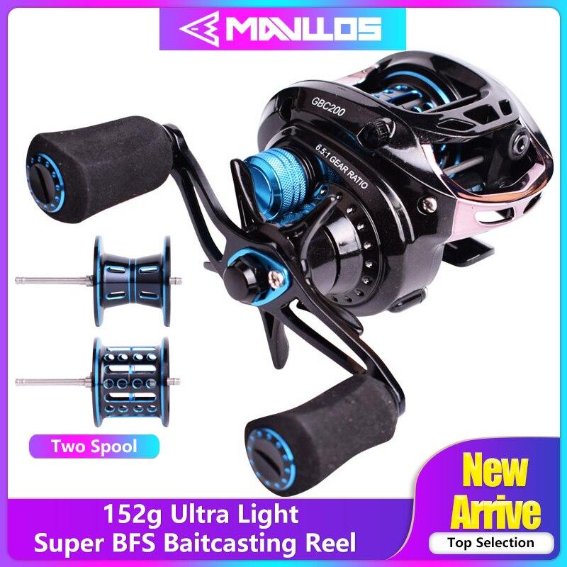 BFS Mavllos GB 152g Ultra Light Mão Dupla de Metal Carretel Carretel De Pesca De Arremesso Esquerda Direita 6.5: 1 Fundição Isca de pesca do Carretel