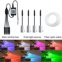 4 in 1 Wire Led Car Interior Atmosphere Light Strip APP Sound Control RGB Mode Colorful Ambient Flexible Light Decorative Lamp