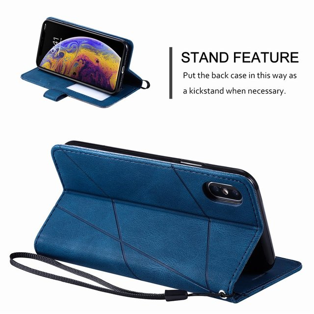 Stand Business Phone Holster For Etui Xiaomi 11 Poco X3 Nfc M3 Redmi Note 10 Pro 7 7A 8 8A 8T 9 Stripe Wallet Rhombus Case D21G 2