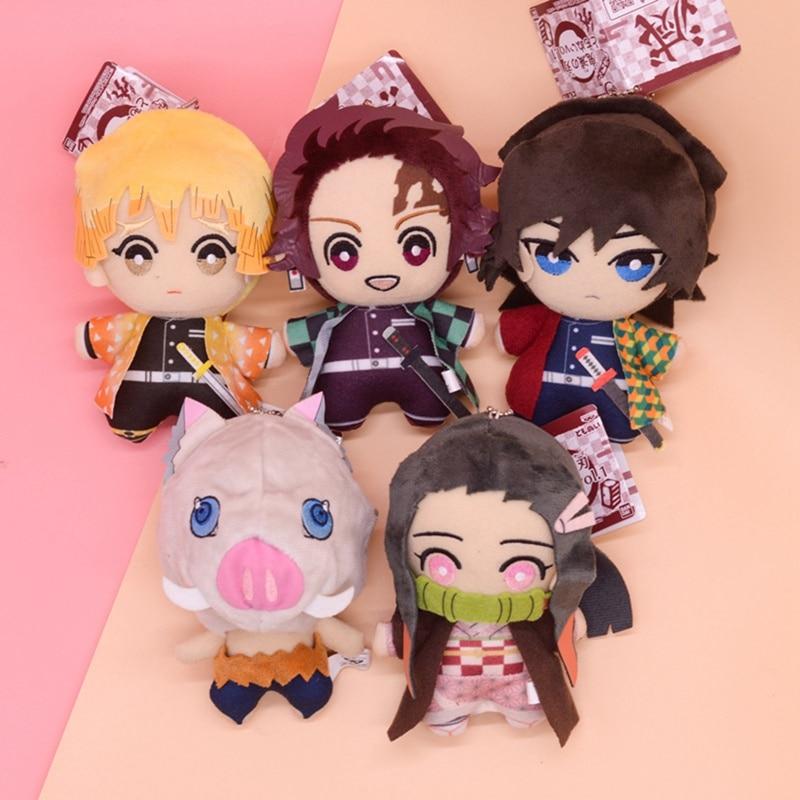 15cm Anime Demon Slayer Plush Toys Doll Kimetsu No Yaiba Agatsuma Zenitsu Nezuko Hashibira Figure Cartoon Toys Kids Gift