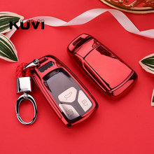 PC+TPU Car Key Cover Case TPU Styling For AUDI A4 B9 Q5 Q7 TT TTS 8S 2016 2017 car keyless remote