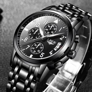 Image 3 - Mens นาฬิกาควอตซ์กันน้ำธุรกิจนาฬิกา LIGE แบรนด์หรูผู้ชาย Casual กีฬานาฬิกาชาย Relogio Masculino relojes hombre
