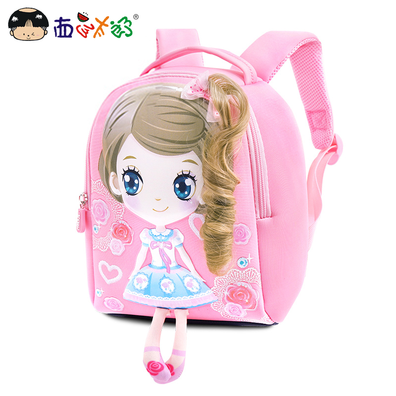 MELONBOY School Bags Little Girls Mini Backpack Sweet Cartoon Image Very Light In Weight For 1-3 Years Children