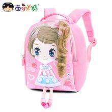 MELONBOY szkolne torby małe dziewczynki mini plecak słodki obrazek z kreskówki bardzo lekki dla 1 3 lat dzieci