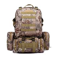 50L Large Capacity Army Tactical Backpack Waterproof Outdoor Hunting Hiking Bags Molle Military Bags Camping Rucksacks Backpack