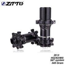 ZTTO M2 MTB 28 Hole Hub Straightpull Ultralight HG XD MS 54T System 28H Hub Disc Brake for 12 speed Thru Axle QR 28h Bicycle Hub