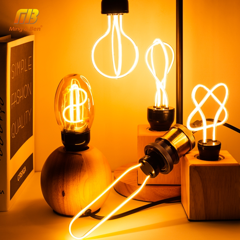 Retro LED Edison Bulb 220V 230V E27 LED Soft Filament Light Bulb Home Lamp Ampoule Incandescent Bulb Holiday Lighting Decor