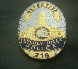 Image 3 - สหรัฐอเมริกา Beverly Hills ตำรวจป้ายทองแดงนักสืบเสื้อ Badge เข็มกลัด Pin Badge 1:1 ของขวัญ Cosplay Prop