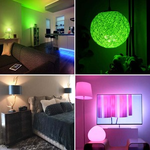 Image 2 - Rgbw Led Lamp 21key Infrarood Controller Smart Bulb Lamp Multicolor Dimbare Kleur Veranderende Led Nachtlampje Ac 110V/220V