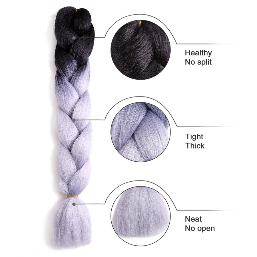 Bulk Ombre Expression Braiding Hair Synthetic Extensions Crochet Hair Box Braids Color Hair Jumbo Braids
