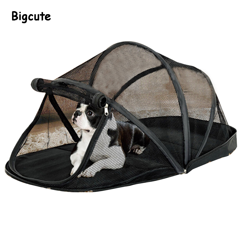 Casa de cachorro portátil gaiola para cães pequenos caixa gato net tenda para gatos fora do canil dobrável filhote de cachorro de estimação anti-mosquito net tendas
