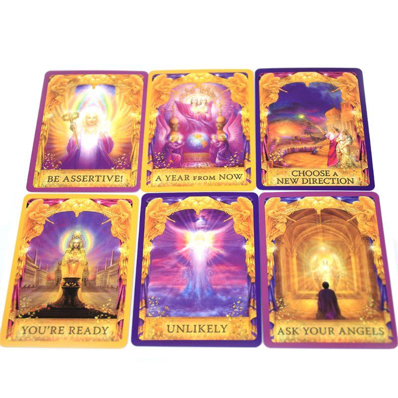 Ангельские ответы на тарионы 44 колода карт с изображением оракула полная английская семейная вечевечерние НКА для друзей