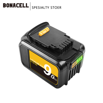 Bonacell 18V 9.0Ah MAX XR Battery power tool Replacement for DeWalt DCB184 DCB181 DCB182 DCB200 20V 5A 20Volt 18 v Battery