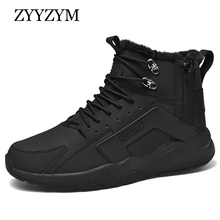 ZYYZYM Men Winter Sneakers Casual Shoes Plush Keep Warm Walking Snow Boots for Zapatos De Hombre