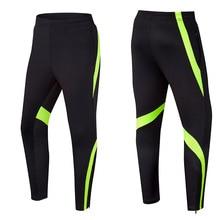 Мужские футбольные тренировочные штаны, дышащие спортивные штаны для бега, спортивные штаны с карманом на молнии, штаны для фитнеса, велоспорта, тренировок, футбола