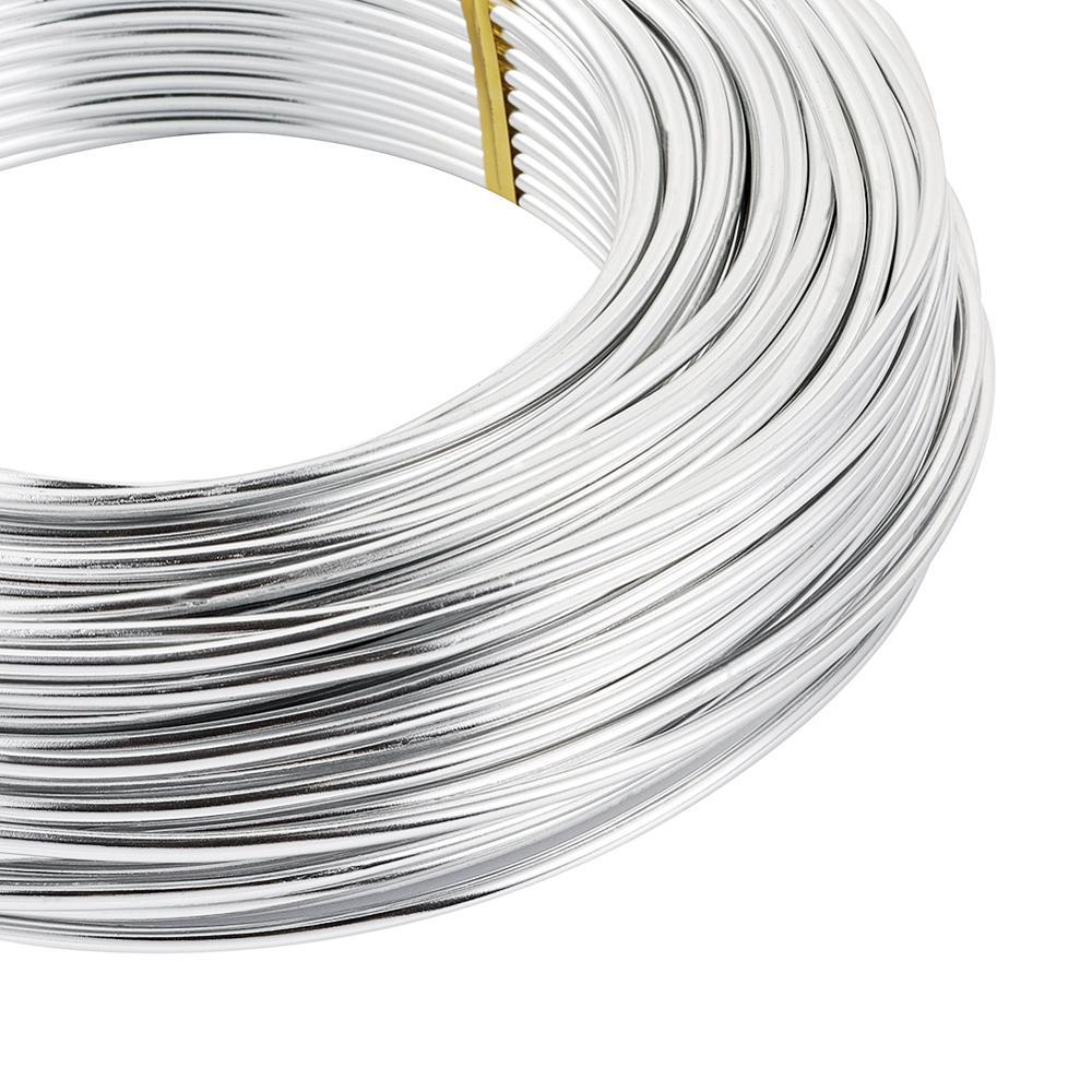 1.5 mm aluminium Craft Fleuriste Fil Fabrication De Bijoux Argent 6 M longueurs
