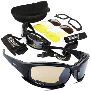 Image 5 - X7 Tactical Polarized Glasses Military Goggles Army Sunglasses with 4 Lens for Hunting Shooting Cycling Motorcycle Glasses