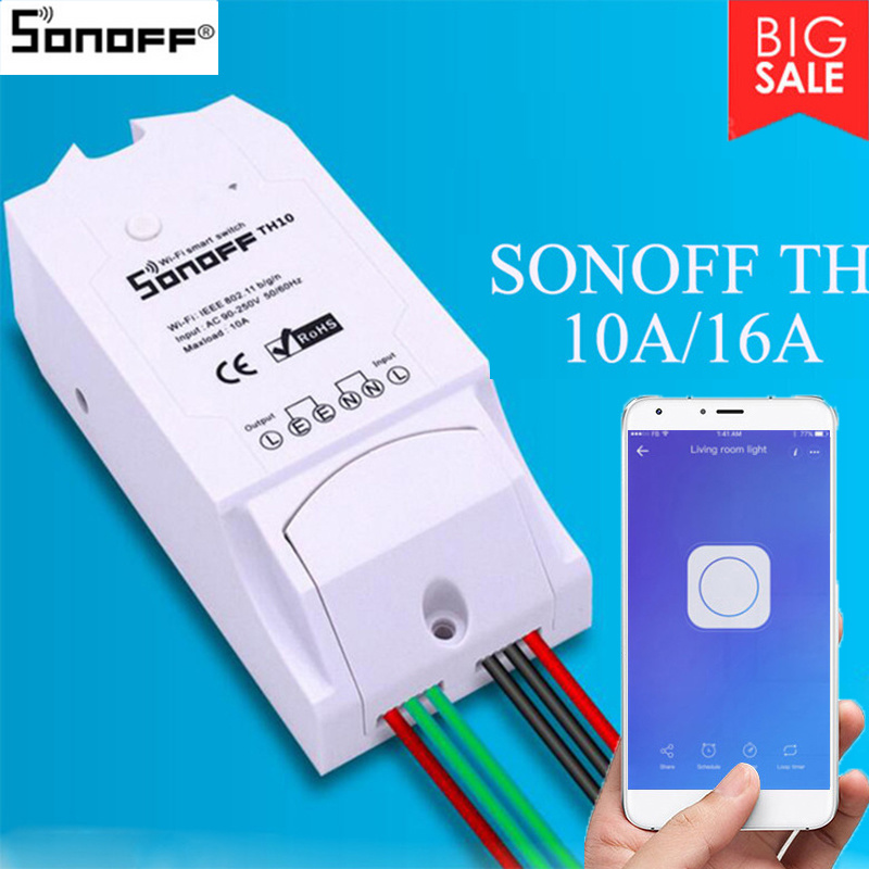 Sonoff Temperature-Humidity-Monitoring Control-Switch Air-Conditioner-Humidifier Wifi title=