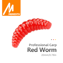 Meredith HOT SELL!! 50pcs 100pcs 150pcs 200pcs 2cm 0.38g maggot Grub Soft Lure Baits smell Worms Glow Shrimps Fishing Lures
