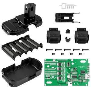 Image 2 - ل RYOBI 18 فولت/P103/P108 حماية البطارية لوحة دوائر كهربائية لوحة دارات مطبوعة البلاستيك علبة البطارية PCB صندوق شل اكسسوارات عدة