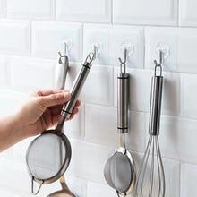 8 шт. водонепроницаемый прозрачный и сильный клей крюк за дверью кухня гвоздь бесплатно не-Марка крюк стены ванной Творческий клей крюк