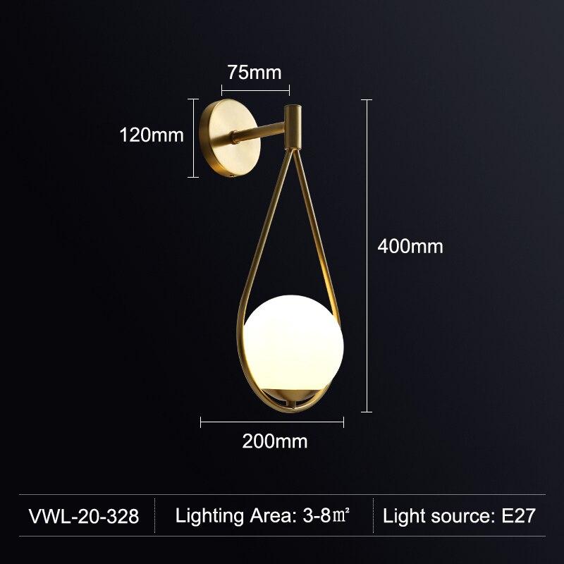 luminaria de parede em led minimalista estilo 04