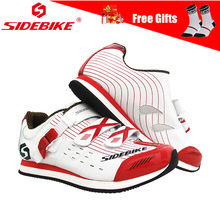 цены Sidebike Men Women Cycling Shoes Non Lock Flat Rubber Sole Road Bike Bicycle Shoes Outdoor Sports Sneakers with Hook & Loop