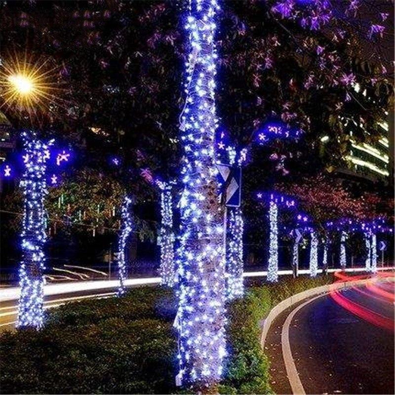 50M 100M Feit Outdoor Weatherproof String Light Set LED Light String AC 220V Input 24V Output Safety Fairy Street Garden Garland