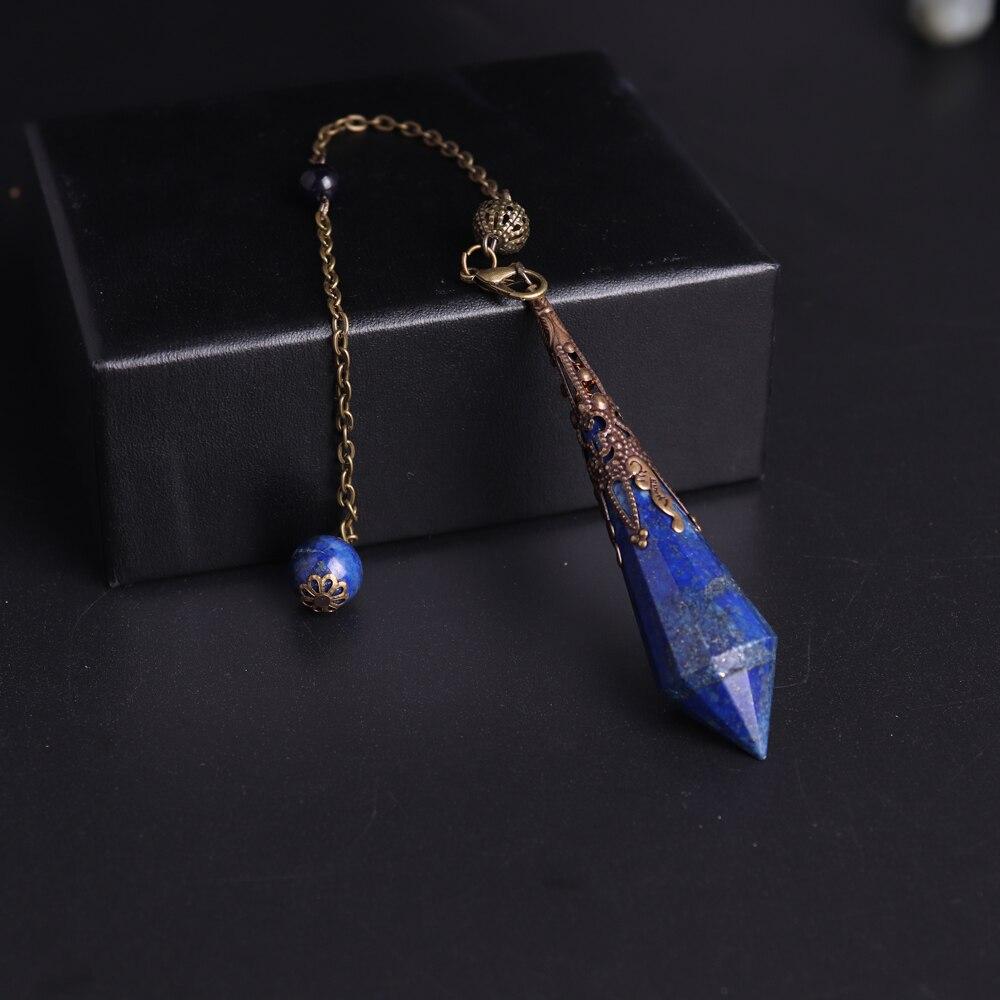 Triangle Quartz and Labradorite Reiki Pendant Necklace Mystic Collection